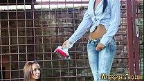 Screenshot Lesbian Pees On  Hot Slut