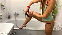 daddy is using his girl in the bathroom - proje...