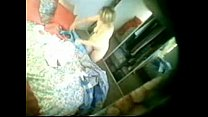 Hidden cam caught my cute mom fully nude in bed room