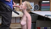Kleptomaniac perky teen blonde just cant help h...