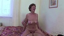 Young Boy Seduce Granny to Get First Fuck and Fuck her Anal image