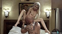 Petite blondie staisfies her stepfather dirty wishes