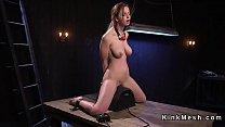 Natural huge tits slave anal fucked