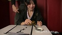 Self-proclaimed calligraphy class teacher! Laughter writing too dirty characters I tried inserting a brush into her pussy in Uedo and demonstrated whether I could write well with my waist! Miku Morishima 1