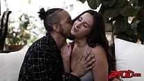 Natural babe Ashley Adams cum sprayed after vig...