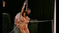 Tractable woman gets tits stimulated in harsh bdsm castigation