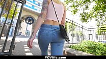 POVLife - Sex with A Busty, Curvaceous Tattooed Blonde Babe Preview