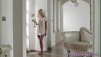 Erotic babe doggystyled in eurosex action