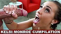 BANGBROS - Latin Babe Kelsi Monroe Cumshot Compilation!
