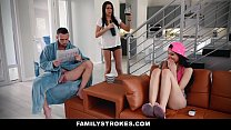 FamilyStrokes - Hot Asian Teen (Brenna Sparks) Fucks StepDaddy