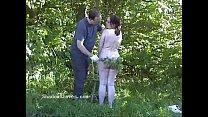Outdoor nettles bdsm and bbw slave girls garden bondage and stinging punishment