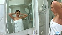 Naughty Nubile Cleans Her Horny Pussy In The Shower