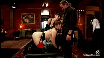 Hot slave bruttally abused at on the upper kinky floor thumbnail