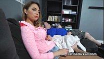 Drilling bigtit Latina gf on video