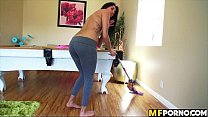Latina cleans the house and gets her pussy fucked Giselle Mari 1