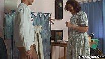 He bangs sewing 70 years old granny Vorschaubild