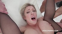 Queen of Balls Deep Anal Dee Williams 4 on 1 DAP pornhub video