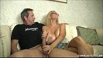 Huge Titted Milf Enjoys Jerking Cocks