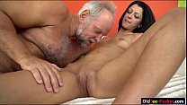 Vivien Bell eager to suck old cock so its hard for her pussy video