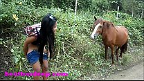 Heather Deep 4 wheeling on scary fast quad and Peeing next to horses in the jungle youtube version