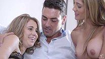 cum4itxxx.com - Teen Threesome - Chloe Amour, Kinsley Eden