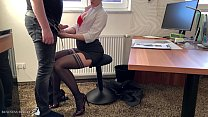 female boss uses her trainee for dick riding, B...