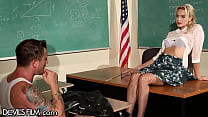 DevilsFilm Dirty Teacher Gets Spanked Hard For Being A Bad Girl