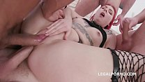 Stella Paint 4on1 Balls Deep Anal, First Time Balls Deep DP and Swallow GIO1400