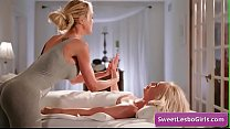 Amazing lesbian babes Brandi Love, Lyra Law enjoy sensual sex massage for intense orgasms