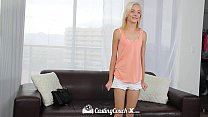 CastingCouch-X - Tiny blonde spinner Maddy Rose tries porn