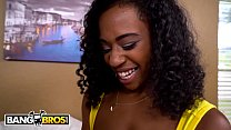 BANGBROS - Busty Ebony Babe Ivy Young Gets A White Dick Surprise! - 69VClub.Com