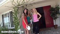 BANGBROS - Amber Ashlee, Aria Aspen, and Nicki Blue on Fuck Team 5!