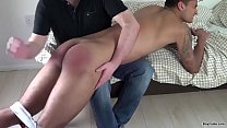 Dad spank cute boy