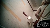 Successful voyeur video of the toilet. View from the two cameras. preview image