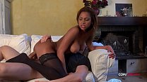 Perfect ass French black girl anal sex by a hug...