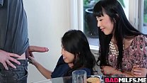 Sexy Asians Cindy and Marica love huge hard cock