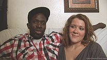 Interracial homemade couple shows their skills on camera preview image