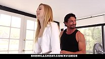 SheWillCheat- Blonde Wife Fucks Trainer In Fron...