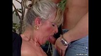 Busty mature loves young cock thumbnail