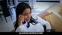 Blackvalleygirls - Cute Ebony Teen Sneaks Around Dad To Fuck Bf