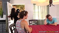 Image: Cuckold brother and dad watch Lana Rhoades takes BBC