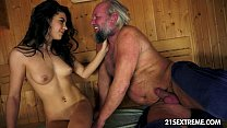 Screenshot Old Man's  Sauna Adventure With A Smoking  With A Smoking Hot Teen