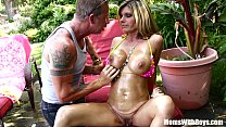 Oiled-Up Photoshoot And Creampie With MILF Kristal Summers Image