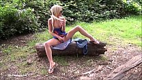 Sexy blonde Debbies public flashing and outdoor babes masturbation in parks for Preview