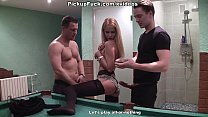 Sexy college teacher gets naked for money scene 1