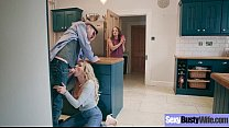 Busty Horny Housewife (Amber Jayne) Enjoy Hard Style Sex Action movie-06