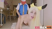 POKEMON ASH FUCKS PIKACHU IN SWEET ANAL AND CUM...
