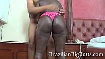 BrazilianBigButts.com Slapping This Thick Black Ass