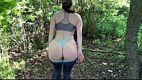 Sex with a stranger in a public park and swallow cum KleoModel
