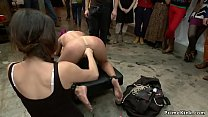Busty blonde is humiliated in public